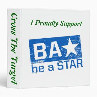 "Be A Star... Cross The Target 1.5"" Binder"