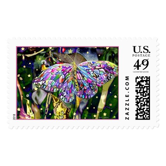 Be A Star New Year Butterfly! Postage