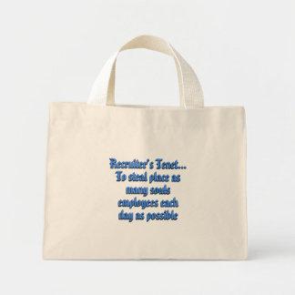 Be a Successful Recruiter Mini Tote Bag