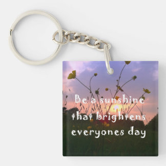 Be a sunshine Single-Sided square acrylic keychain