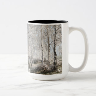 Be a swinger of birches Two-Tone coffee mug