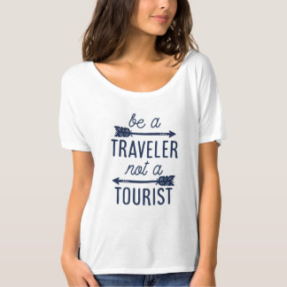 Be a Traveler Not a Tourist Typography Quote Tee