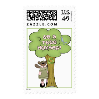 Be A Tree Hugger Postage
