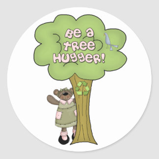 Be A Tree Hugger Stickers