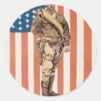 """""""Be a U.S. Marine!"""" circa 1918 Classic Round Sticker"""