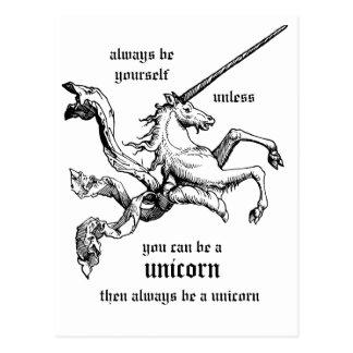 Be a unicorn CC0219 Postcard