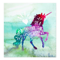 Be A Unicorn In A Field Of Horses Inspirational Photo Print