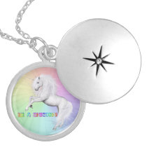 Be A Unicorn Silver Plated Necklace