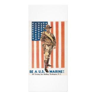 Be A US ***** Vintage War Recruit poster Rack Card