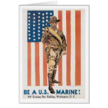 Be a US ******! Vintage War recruitment poster Cards