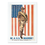 Be a US ******! Vintage War recruitment poster Personalized Invitations