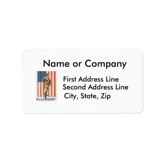 Be a US ******! Vintage War recruitment poster Label