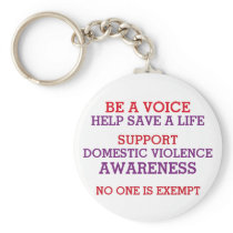 BE A VOICE - DOMESTIC VIOLENCE AWARENESS KEYCHAIN