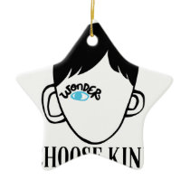 Be a wonder - Choose Kind - Kindness Shirt Ceramic Ornament
