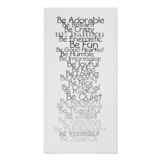 Be ABC's for Chldren's Room Poster