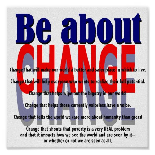 Be about Change Poster