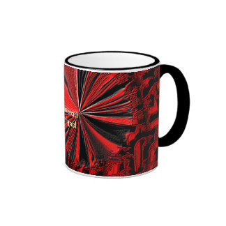 be abstract in red ringer mug