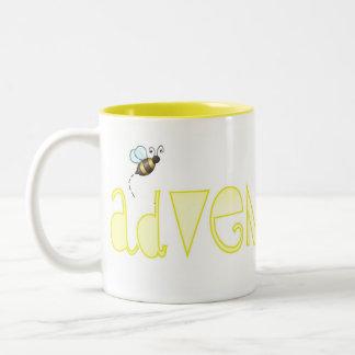 Be Adventurous - A Positive Word Two-Tone Coffee Mug