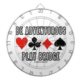 Be Adventurous Play Bridge (Four Card Suits) Dartboard With Darts