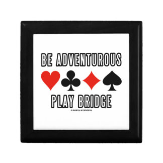 Be Adventurous Play Bridge (Four Card Suits) Jewelry Boxes