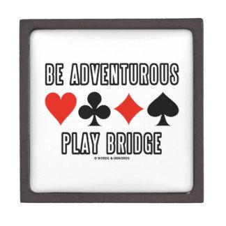 Be Adventurous Play Bridge (Four Card Suits) Jewelry Box