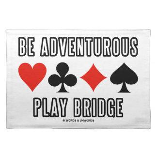 Be Adventurous Play Bridge (Four Card Suits) Cloth Placemat