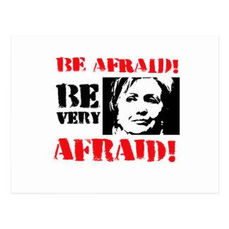 Be afraid Be Very Afraid Postcard