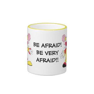 BE AFRAID! Big Eared Clown Ceramic Mug