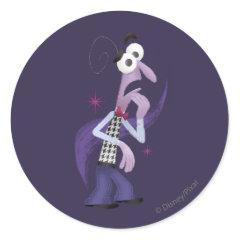 Be Afraid Classic Round Sticker