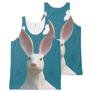 Be Afraid! Creepy Bunny Art! All-Over-Print Tank Top
