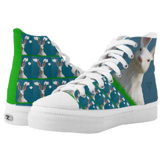 Be Afraid! Creepy Bunny Shoes! High-Top Sneakers