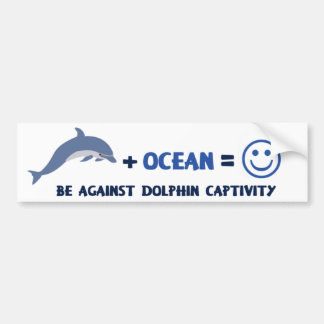 BE AGAINST DOLPHIN CAPTIVITY CAR BUMPER STICKER