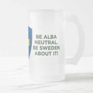 Be Alba Neutral-Be Sweden Frosted Glass Mug