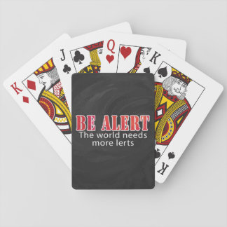 Be Alert Playing Cards