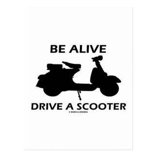 Be Alive Drive A Scooter (Scooter Silhouette) Postcard