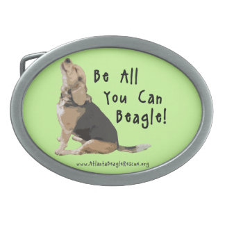 Be All You Can Beagle! Belt Buckle in Green
