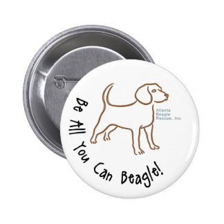 Be All You Can Beagle Button