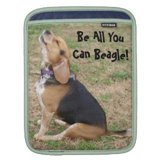 Be All You Can Beagle iPad Sleeve starring Spike