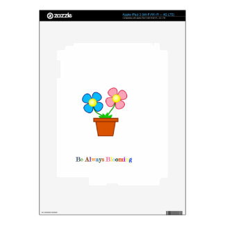 Be Always Blooming Decal For iPad 3