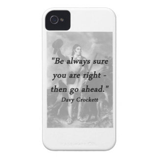 Be Always Sure - Davy Crockett iPhone 4 Case