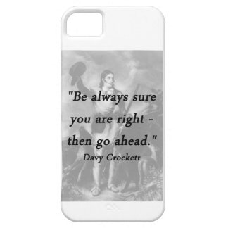 Be Always Sure - Davy Crockett iPhone SE/5/5s Case