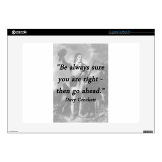 Be Always Sure - Davy Crockett Laptop Skin