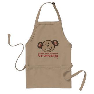 'Be Amazing Monkey' Apron (Adults)