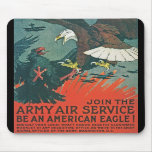 """Be an American Eagle"" RESTORED Army Air Poster Mouse Pads"