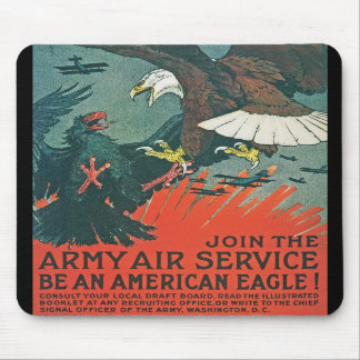 Be an American Eagle RESTORED Army Air Poster Mouse Pads