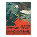 """""""Be an American Eagle"""" RESTORED Army Air Poster Postcard"""