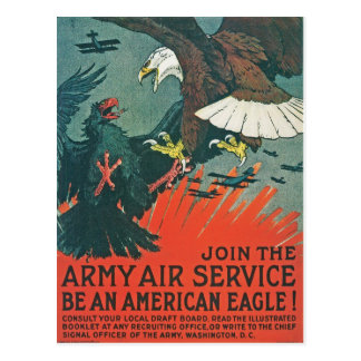 """Be an American Eagle"" RESTORED Army Air Poster Postcard"