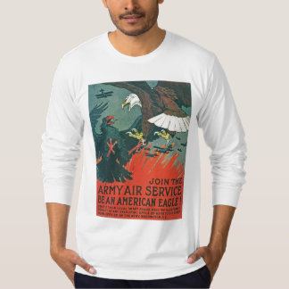 """""""Be an American Eagle"""" RESTORED Army Air Poster T-Shirt"""
