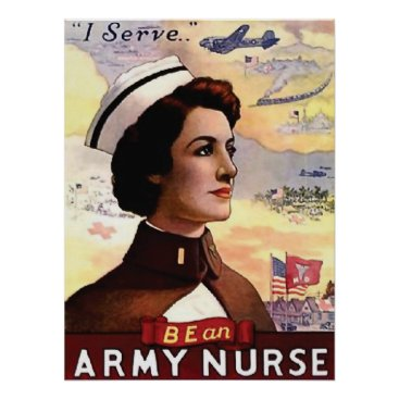 Be an army nurse, vintage, propaganda, war poster