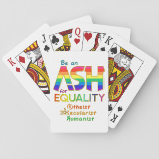 Be an ASH for Equality Playing Cards